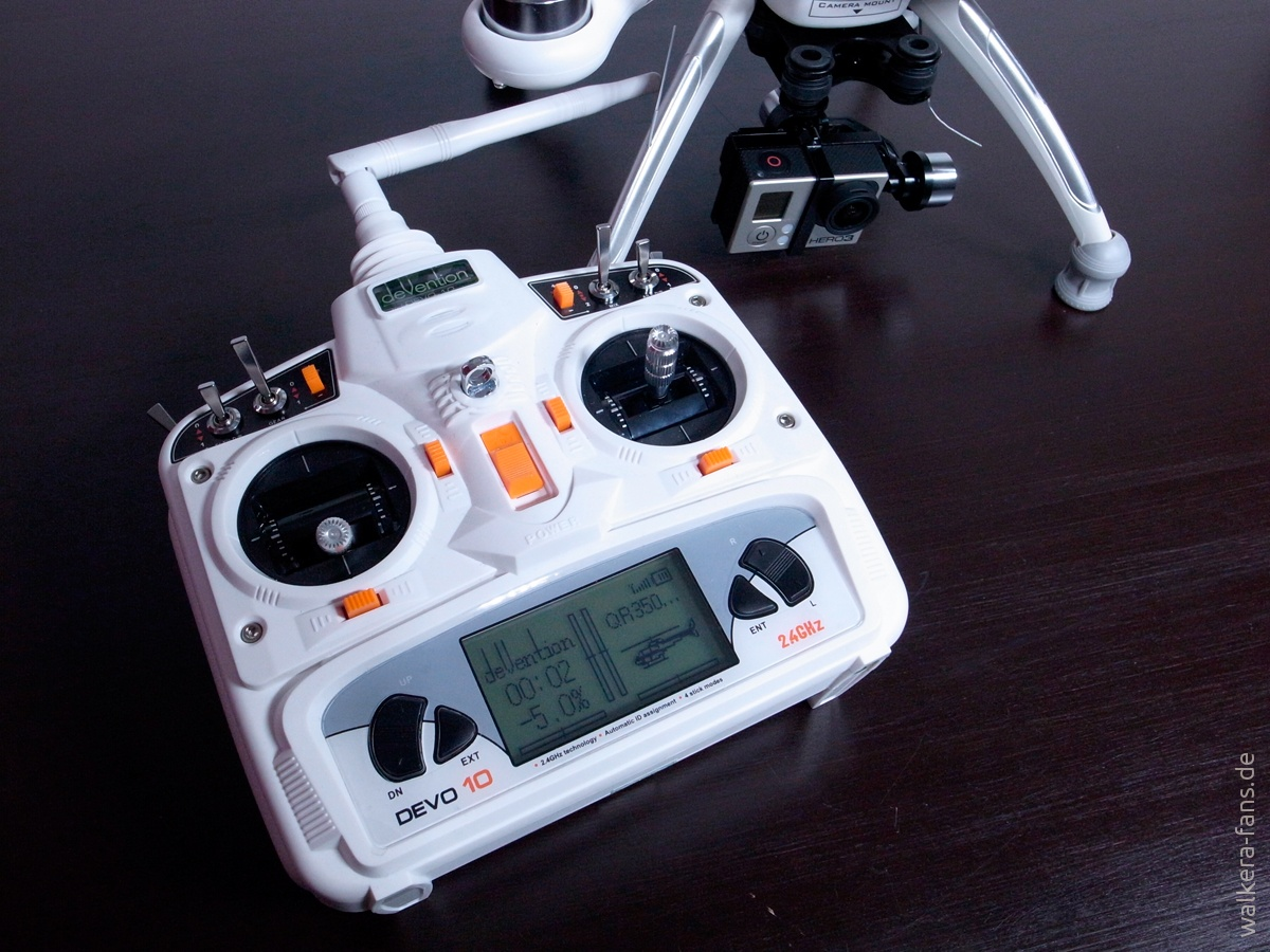 Devo 10 White Walkera Fans Drone Voyager 3 Gps F12e G 3d Gimbal Ilook With Camera Putih