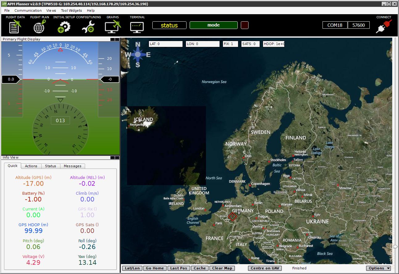 X350 Pro und Ardupilot - Konfigurieren mit APM Mission Planner