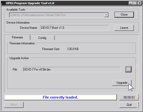 UP02 Program Upgrade Tool v1.0-firmware