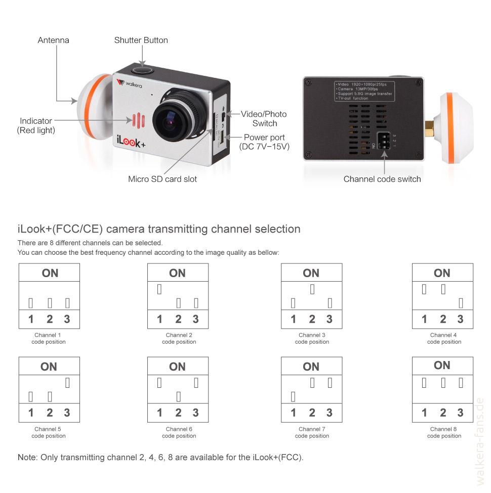 iLook+ - eine Full HD FPV Kamera: Spezifikationen – Walkera Fans on