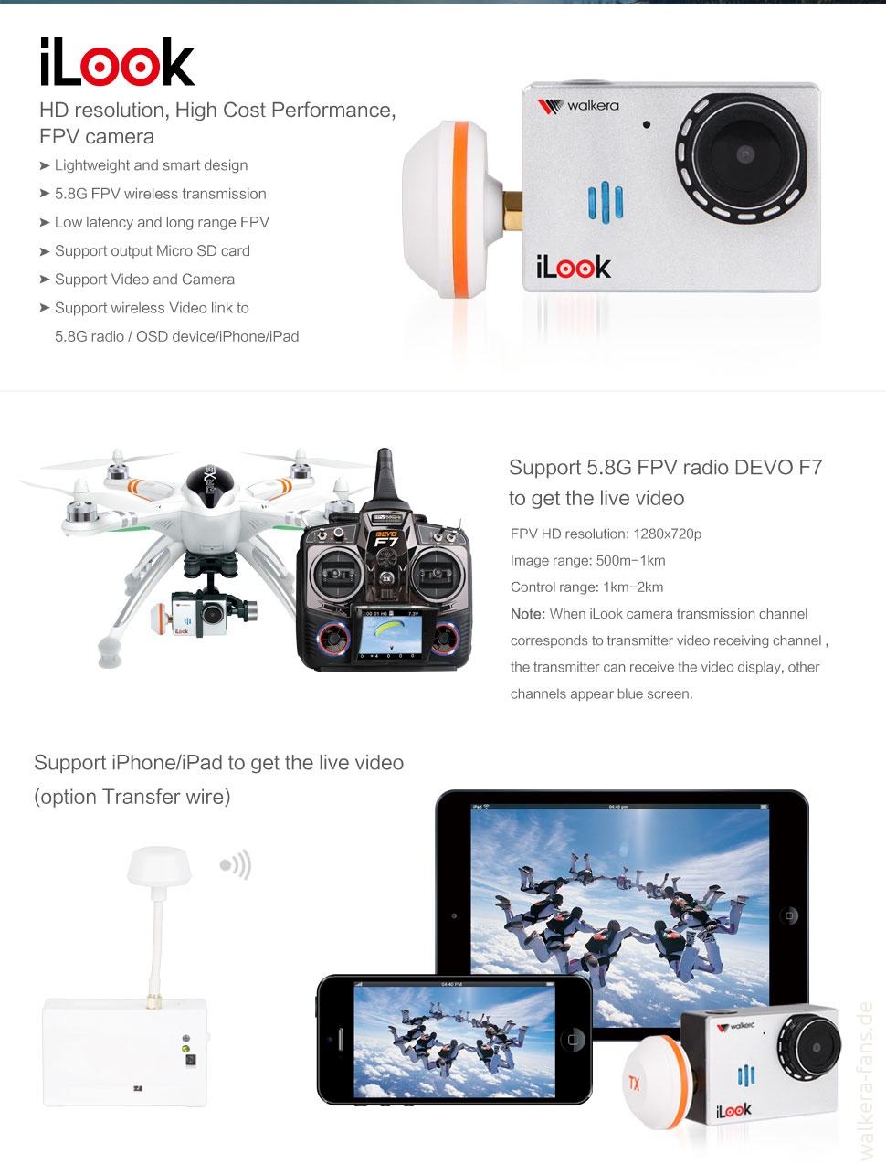 iLook Kamera: Spezifikationen und Innenleben – Walkera Fans on