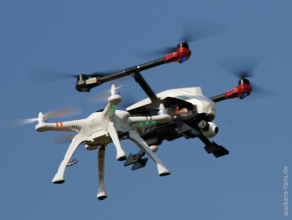 Walkera Voyager 3 und X350 Pro Formationsflug
