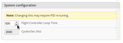 Looptime_500_Betaflight